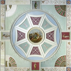 Detail from a ceiling design for 5 Adelphi Terrace, by Robert Adam, England, UK, about 1771. Museum no. W.43-1936
