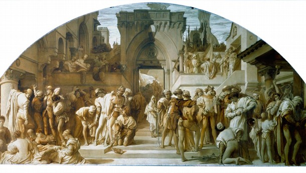 Frederick Lord Leighton (1830-96), 'The Industrial Arts as Applied to War', Museum no. 296-1907