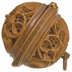 Boxwood rosary bead, probably by Adam Dirksz, about 1510-20, Brabant, southern Netherlands. Museum no. A.535-1910