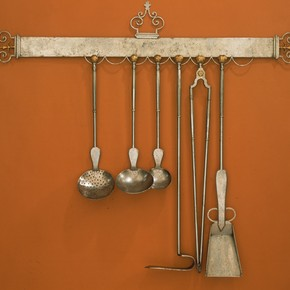 Rack of kitchen implements, About 17th century. Museum no.M.121 to G-1925