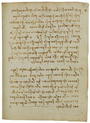 Leonardo da Vinci, Forster Codex, Volume II-2, 94r, Late 15th - early 16th Century. Museum no. F.141 Volume II-2 R94r (Forster)