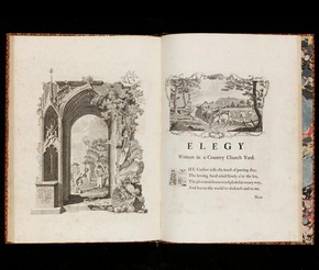 'Elegy Written in a Country Churchyard' by Thomas Gray, illustrations by Richard Bentley, London, England, UK, 1751. Museum no. NAL DYCE L Fol.4220