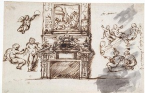 Inigo Jones, Drawings for the interior of Queen's House, Greenwich, © RIBA Library Drawings Collection