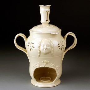Veilleuse or beverage warmer, Staffordshire (possibly), England, about 1780-1800. Museum no. 3548-1901