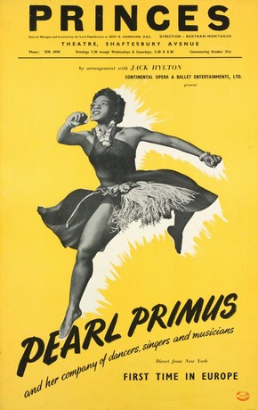 Pearl Primus Company, poster, Shaftesbury Avenue Theatre, London, 1951. Museum no. S.4119-1994