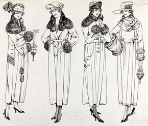 3) Florrie Westwood, fashion design, London, 1919. Museum no. E.1538-1977