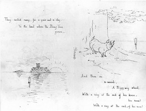 Illustrated manuscript of 'The Owl and the Pussy-cat', by Beatrix Potter, about 1897. Museum no. BP.619A.  Frederick Warne &amp; Co. Ltd.