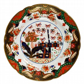 Plate with 'Japan' design, Spode Ceramic Works, about 1815. Museum no. C.725-1935