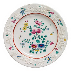 Plate, Bow porcelain factory, London, about 1755. Museum no. 414:80-1885
