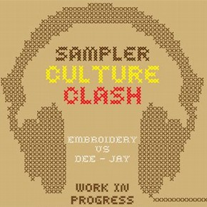 Sampler - Culture Clash logo, designed by Oscar Wilson
