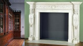 Panelling by Robert Adam and chimney-piece by William Chambers, 18th century