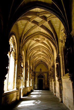 Cloister, San Juan de los Reyes, Toldedo, Spain, founded 1476. Photograph by Andy Carson.