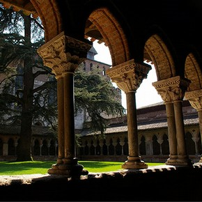 The cloister of Saint-Pierre, Moissac, France, built about 1100. Photograph by Salvador Busquets.