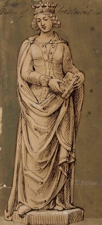 Figure 2 - Queen Eleanor in Sketches and Drawings by John Thomas, Volume 2 (RIBA, 49)