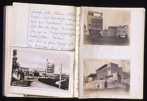 Weissenhof Seidlung, Stuttgart, travel journal, Peter Moro. © RIBA Architecture Library Manuscripts Collection