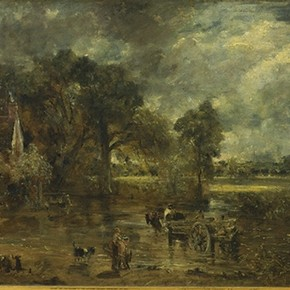 'Study for the Haywain' by John Constable, about 1821, Museum no. 987-1888