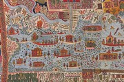 Kashmir shawl (detail), about 1870. Museum No. IS 31-1970, given by Mrs Estelle Fuller