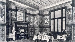 Etching of the Poynter Room by John Watkins, c. 1876-81.