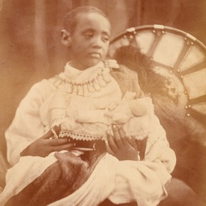 Julia Margaret Cameron (1815-79), photograph of Prince Alàmayou, 1868. Museum no. 24-1939