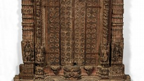 Façade of a domestic shrine, Ahmedabad, Gujarat, western India, 17th-18th century. Museum no. IM.342-1910
