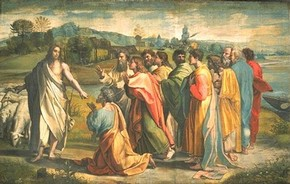Raphael, 'Christ's Charge to Peter', 1515-16. V&A Images/The Royal Collection
