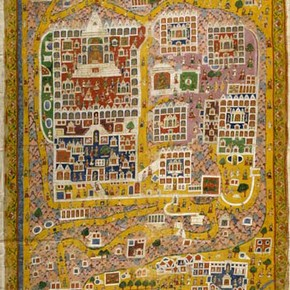 Pilgrimage picture of Satrunjaya, Gujarat, western India, about 1800, private collection