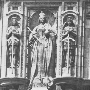 Queen Victoria, with St. George on the left and St. Michael on the right. Alfred Drury, R.A.