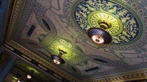 The restored ceiling in Room 69, the eastern end of Silver galleries