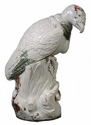 'King Vulture', porcelain, Meissen, about 1731. Museum no. C.11-2003