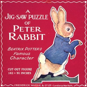 Peter Rabbit jigsaw, about 1930, © F. Warne