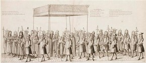 Illustration from Francis Sandford's account of James II's Coronation, 1687.