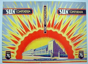 Dust jacket by unknown artist for 'Sun Compendium', London, England, 1919. Museum no. AAD/1995/8/01/435