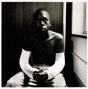 David Goldblatt, 'Lawrence Matjee after assault and detention by the Security Police', 1985. Museum no. E.113-1992, © Victoria and Albert Museum, London