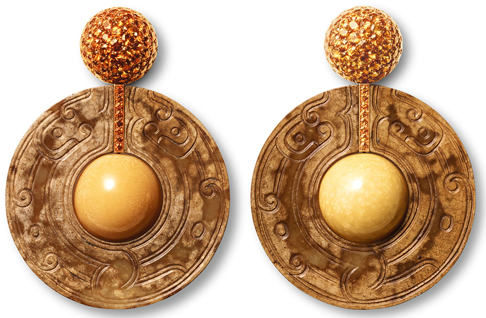 Melo And Brown Diamond Earrings Made Designed By Hemmerle Munich Germany
