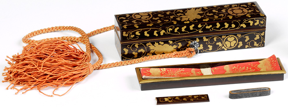 Miniature poem box, Japan. 1880-1930, Lacquered wood and gold hiramaki-e. Museum no. FE.21:1-2003, © Victoria and Albert Museum, London