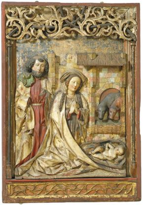 'The Nativity', workshop of Hans Klocker, about 1500. Museum no. 260-1898, © Victoria and Albert Museum, London