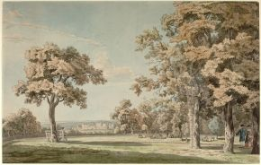 Windsor Castle from the Great Park, Near the End of The Long Walk, by Thomas Sandby (1721-1798), 18th century, watercolour on paper. Museum no. 137-1892, © Victoria and Albert Museum, London