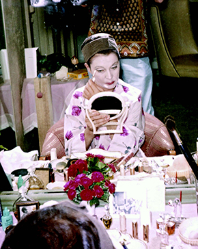 Vivien Leigh in her dressing room, Hollywood, ca. 1960