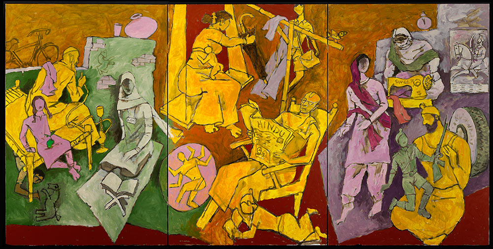 Mf Husain Master Of Modern Indian Painting  About The Exhibition  Mf Husain Indian Households  Courtesy Of Usha Mittal   Victoria High School English Essay Topics also Thesis Statement In Essay  English Assignment Help