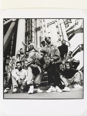 Normski,  'Silver Bullet Posse - The Lloyds  Building, London, 1989'. Museum no. E.113-2012. © Normski/ Victoria and Albert Museum, London. Supported by the National Lottery through the Heritage Lottery Fund.