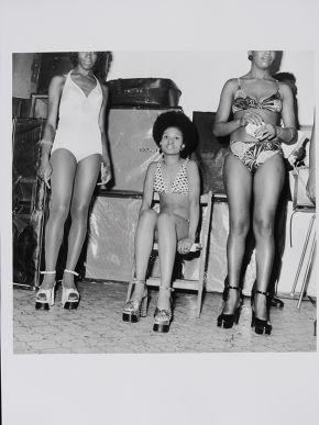 Raphael Albert, Untitled, circa 1960s, from the portfolio 'Black Beauty Pageants'. Museum no. E.313-2013.  © Raphael Albert/ Autograph ABP/ Victoria and Albert Museum, London. Supported by the National Lottery through the Heritage Lottery Fund.