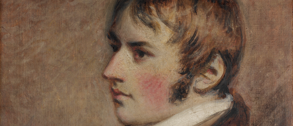 Portrait of John Constable, Daniel Gardner, 1796. Museum no. 589-1888