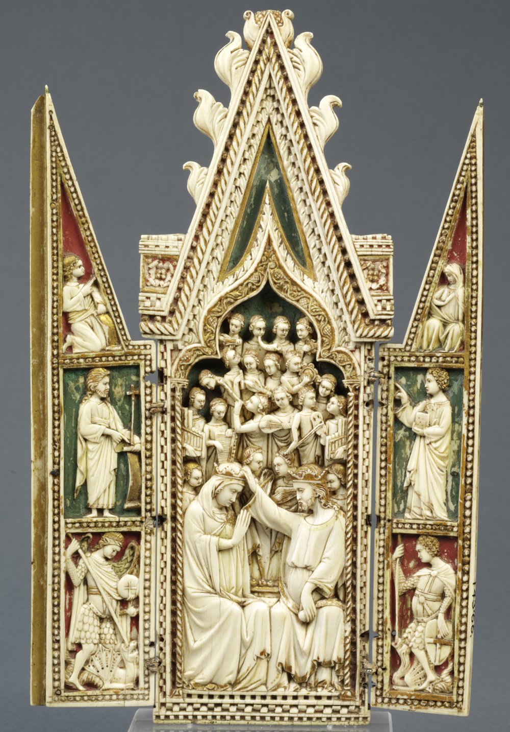 The Coronation Of Virgin Triptych Unknown Maker 1360 1370 Museum No 143 1866