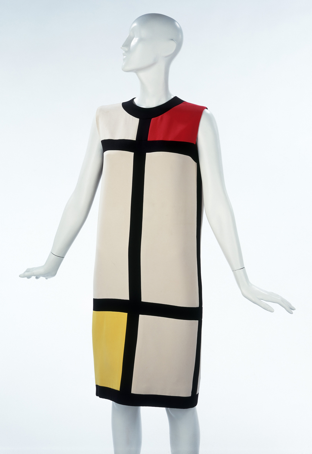 Mondrian Tail Dress Yves Saint Lau 1965 Museum No T 369 1974