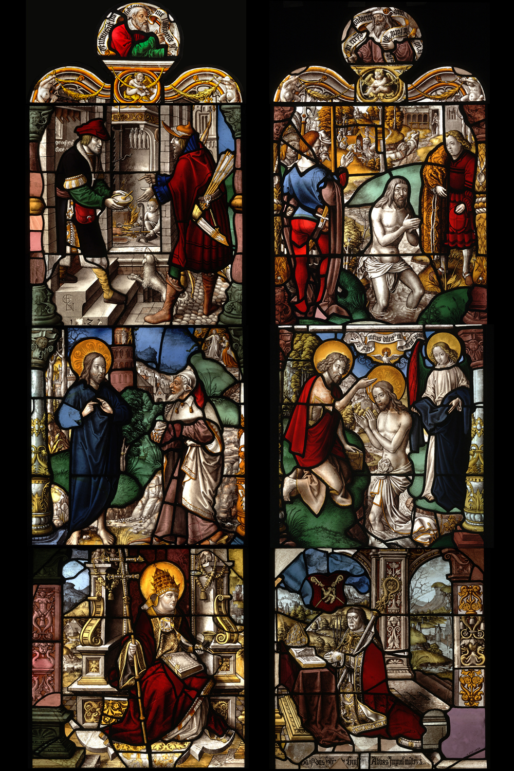 Stained glass from mariawald abbey design symbolism victoria reconstruction of the first window in the north walk of mariawald abbey cloister by gerhard biocorpaavc Choice Image