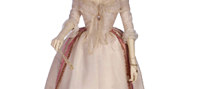 Interactive: Ivory Silk Gown & Petticoat, by Unknown Maker, 1780-85