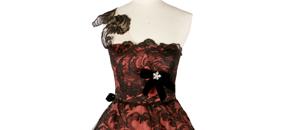 Interactive: Silk Taffeta Evening Dress, by Worth, 1960