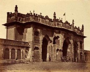 Gateway of the Bada Imambada, by Felice Beato, about 1858. Museum no. PH.2084-1905