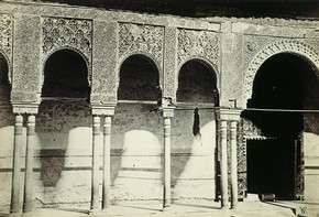 Charles Clifford, &#39;Court of the Lions, Alhambra Palace, Granada&#39;, about 1860. Museum no. 47:790