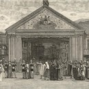 Newspaper cutting from Illustrated London News, The Ober-Ammergau Passion Play, 7 June 1890. Museum no. S.1187-2009